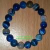 สร้อยข้อมืออาเกตสีฟ้า (Agate) หินมงคลมั่งคั่งร่ำรวย หินปกป้อง หินนำโชค
