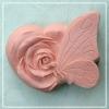 แม่พิมพ์ซิลิโคน รูปหัวใจดอกกุหลาบ+ผีเสื้อ 105g