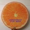 เบาะรองนั่ง 3D เกรด A รูปผลไม้ ส้ม สีสันสวย ใช้ได้ทนนาน ถอดซักได้ ราคาถูกสุดๆ