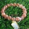 สร้อยข้อมือไหมนาค Pink Rutilliated Quartz หินมงคล มั่งคั่ง ร่ำรวย โชคลาภ รักษาสุขาภพ
