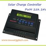 ตัวควบคุมการชาร์จแบตเตอรี่ แบบ PWM ขนาด 20A 12/24V (WLS)