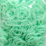 100% Silicone Loom Band รุ่นเรืองแสง(Glow in the dark )/ สีเขียวพาสเทล 600 เส้น(GPG)