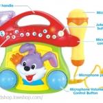 Huile Toys Huile toys microphone toy with mushroom ชุดคาราโอเกะรูปกระต่ายน้อยน่ารัก