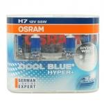 หลอดไฟหน้า OSRAM H7 12V 55W รุ่น COOL BLUE HYPER+