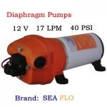 โซล่าปั๊ม ชนิดไดอะแฟรม (Diaphragm) ขนาด 17LPM 12VDC 6A 40PSI