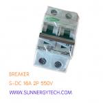 Breaker แบบ MCB DC ขนาด 16A 550V 2P (SNT)
