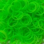 ยางถัก 100%Silicone loom band สีเขียวนีออน 600 เส้น ( # 6 )