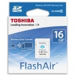Toshiba FlashAir Wireless SD Card - Class 10 - 16 GB