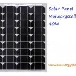 แผงโซล่าเซลล์ ชนิด Mono-Crystalline ขนาด 40W