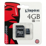Kingston Micro SD Card - Class 4 - 4GB