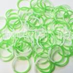 100% Silicone Loom Band Tie Die เขียว/ขาว 600 เส้น ( TGW)