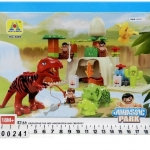 ชุดตัวต่อ ไดโนเสาร์ พร้อมโมเดลไดโนเสาร์ building blocks toys dinosaur park Set 42 ชิ้น