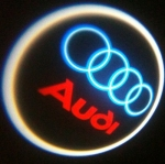 ไฟโลโก้ส่องพื้น Audi แบบไร้สาย