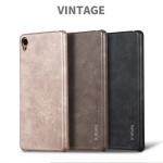 เคสหนัง X-Level Vintage Leather สำหรับ Xperia XA1 สีดำ