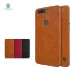 เคส OnePlus 5T ของ Nillkin Qin Leather Case - สีน้ำตาล