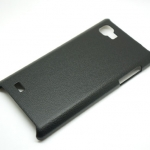 Jzzs Leather Black Case For LG Optimus 4X