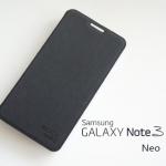เคสฝาพับ Samsung Galaxy Note 3 Neo ของ MEGAKING - สีดำ