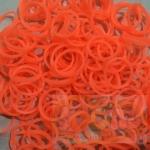 100% Silicone Loom Band สีพีช นีออน 600เส้น ( # 29 )