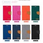 เคสฝาพับ Xperia M5 ของ Mercury Canvas Diary Leather Case