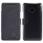 เคสฝาพับ HTC One M7 ของ Nillkin Fresh Leather Case - สีดำ