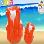 เสื้อชูชีพ เด็ก สีส้ม Intex Childs Inflatable Swimming Life Jacket