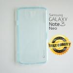 เคสยาง Samsung Galaxy Note 3 Neo ของ UFO Ultra Fit - สีฟ้าใส