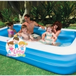 INTEX ™สระว่ายน้ำเป่าลมขนาดครอบครัว (305 x 183 ซม.) ขนาด 3 เมตร