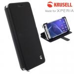 เคสฝาพับ Xperia C4 ของ Krusell Malmo Flip Wallet Case - สีดำ