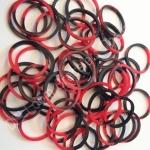 100% Silicone Tie Die แดง/ดำ 600 เส้น ( TBR)