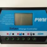 ตัวควบคุมการชาร์จแบตเตอรี่ แบบ PWM_20A 12/24V (SS-1220LN)