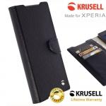 เคสฝาพับ Xperia XA ของ Krusell Boras FolioWallet Case - สีดำ