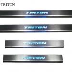สคัพเพลท Mitsubishi Triton มีไฟ LED