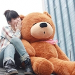 ตุ๊กตาหมีสีน้ำตาลเข้มหลับตา2.0เมตร