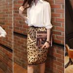เสื้อเชิ้ตชีฟองน่ารัก ไหล่พอง จั้มแขน สีขาว(White)