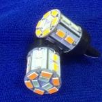SMD T20 แบบเสียบ 21 ดวง 2 สี ส้ม-ฟ้าน้ำเงิน
