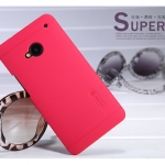 เคส HTC One M7 ของ Nillkin Super Frosted Shield - สีแดง