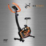 จักรยานนั่งปั่นออกกำลังกาย ในบ้าน ระบบแม่เหล็ก รุ่น ex-02 สีดำ-ส้ม Glossy