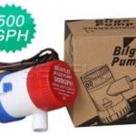 โซล่าปั๊ม (Solar Pump) ยี่ห้อ Bilge ขนาด 500GPH 24V