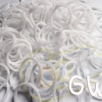 100% Silicone Loom Bands Glow in the dark เรืองแสงสีขาว 600 เส้น (GW)