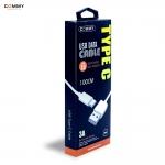 สายชาร์จ Commy USB 3.0 Type C สีขาว