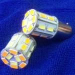 SMD T20 แบบเเขี้ยว 21 ดวง 2 สี ส้ม-ขาว