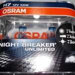 OSRAM NIGHT BREAKER UNLIMITED ขั้ว H7