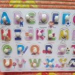 ชุดของเล่นไม้ แผ่นสอนเรียนรู้เรื่อง ตัวอักษรและตัวเลข (2 แผ่น)