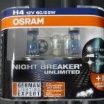 OSRAM NIGHT BREAKER UNLIMITED ขั้ว H4 (แถมไฟหรี่)