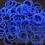 100% Silicone Loom Band สีฟ้าอมน้ำเงิน 600เส้น ( # 31 )