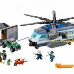 บล๊อกตัวต่อ 528 ชิ้น เฮลิคอปเตอร์ รถตำรวจเมืองจำลอง Urban City Police Model Building Block Toy (6-12 ปี)