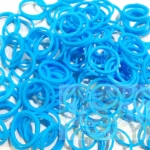 100% Silicone Loom Band สีฟ้าบลูสกาย 600เส้น ( # 26 )