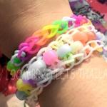 Beadsตกแต่งกำไลยาง Loom band สีพาสเทล(PB)