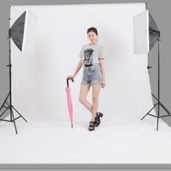 ผ้าฉากถ่ายรูป 3 x 6m SD-20171011 photography studio video backdrop background screen สีขาว white