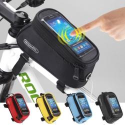 กระเป๋าใส่มือถือจักรยาน Roswheel 12496L-CF5 bicycle smartphone bag - Blue สีน้ำเงิน